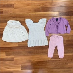 Bundle of Girl Dress, Poncho & Outfit